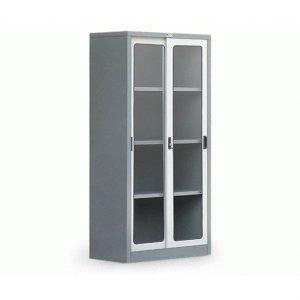 lemari arsip besi pintu kaca
